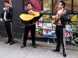 Mariachi Street Band Wearing Charro Suits