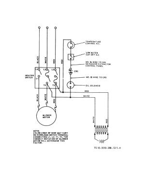 Figure 16 Water heater wiring diagram