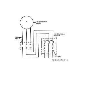Figure 17 Air pressor wiring diagram
