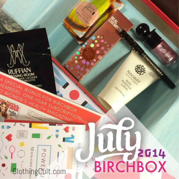 Birchbox unboxing July 2014