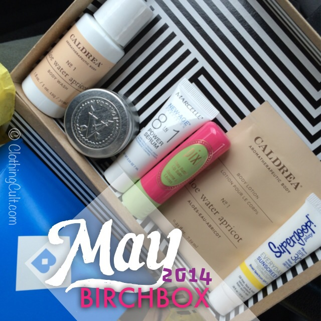 Birchbox unboxing May 2014 • via ClothingCult.com
