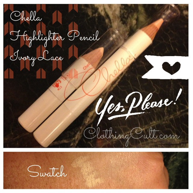 Chella Highlighter Pencil ivory lace swatch & review