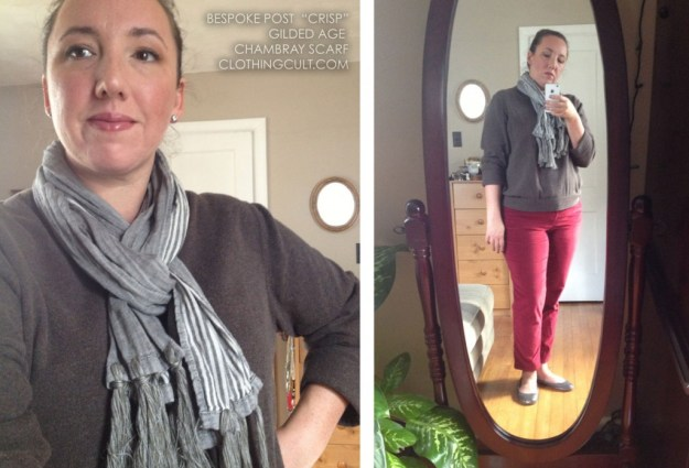 Gilded Age Chambray Scarf from Bespoke Post Crisp Box Review