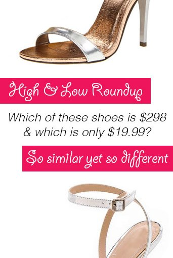 High & Low Roundup – Silver Sandals with 4″ heels