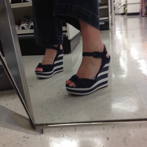 Nautical wedges TJ Maxx