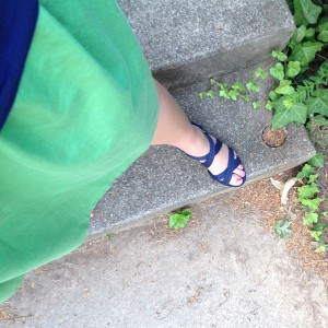 Green and Navy outfit 1