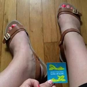 Saddle Brown sandals - Payless Shoes - Riveira