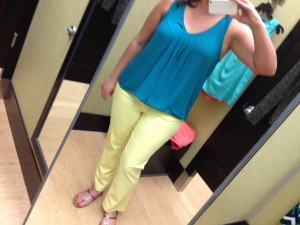 Dana Buchman Sateen Capris & my own top