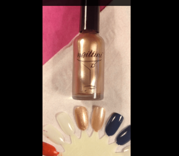 Nailtini champagne swatch nail polish