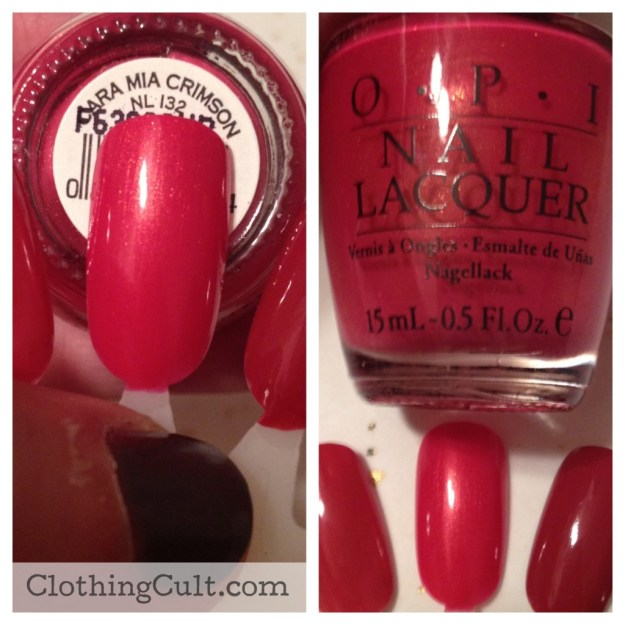 OPI nail polish Cara Mia Crimson swatch - ClothingCult.com