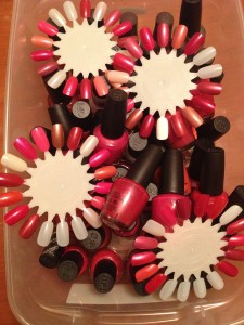 Opi Nail Polishes swatched 1