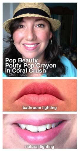 POP Beauty – Pouty Pop Crayon in Coral Crush