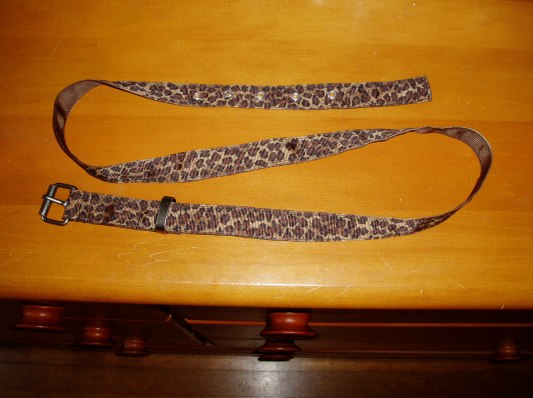 Leopard DIY belt full pic on dresser