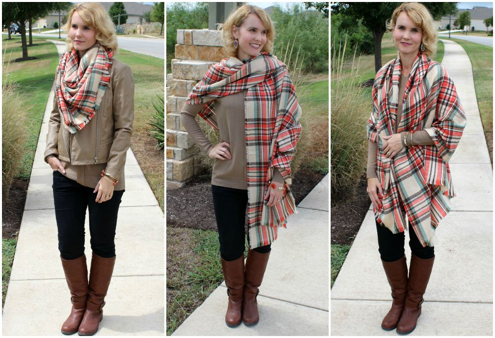 How To Wear Blanket Scarves For The Fall