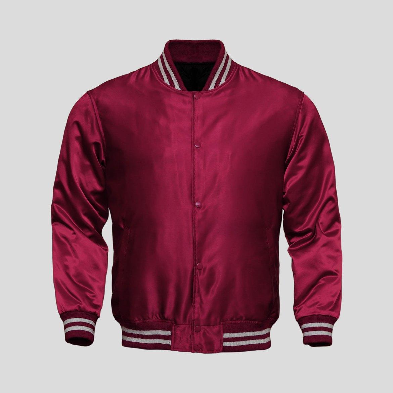Maroon Baseball Jacket