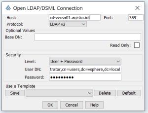 Connect JXplorer to vCenter