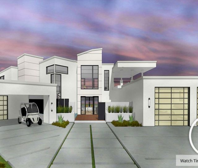 3d Rendering Of An Exterior Home Design In Watercolor