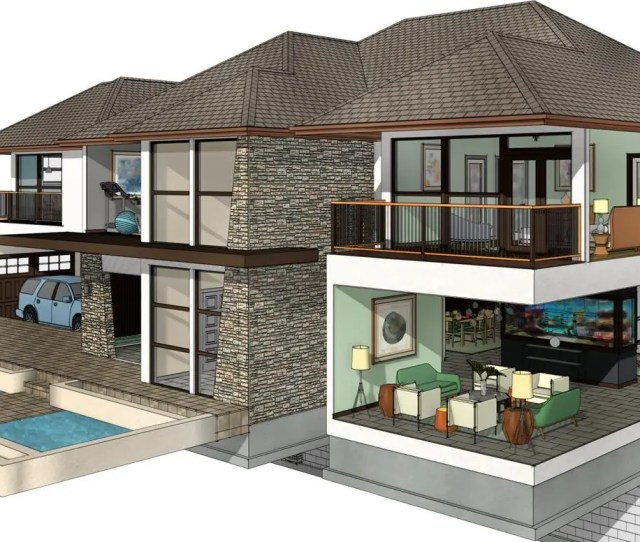 Example Home Design By Chief Architect Software