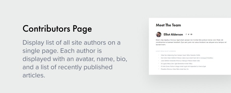 Contributors Page
