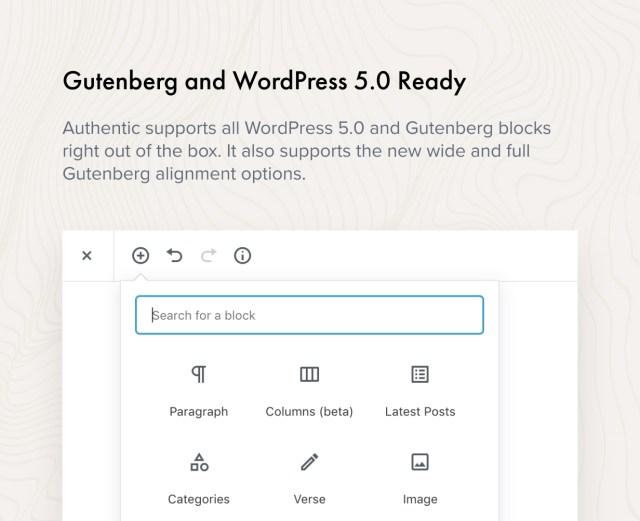 Gutenberg and WordPress 5.0 Ready