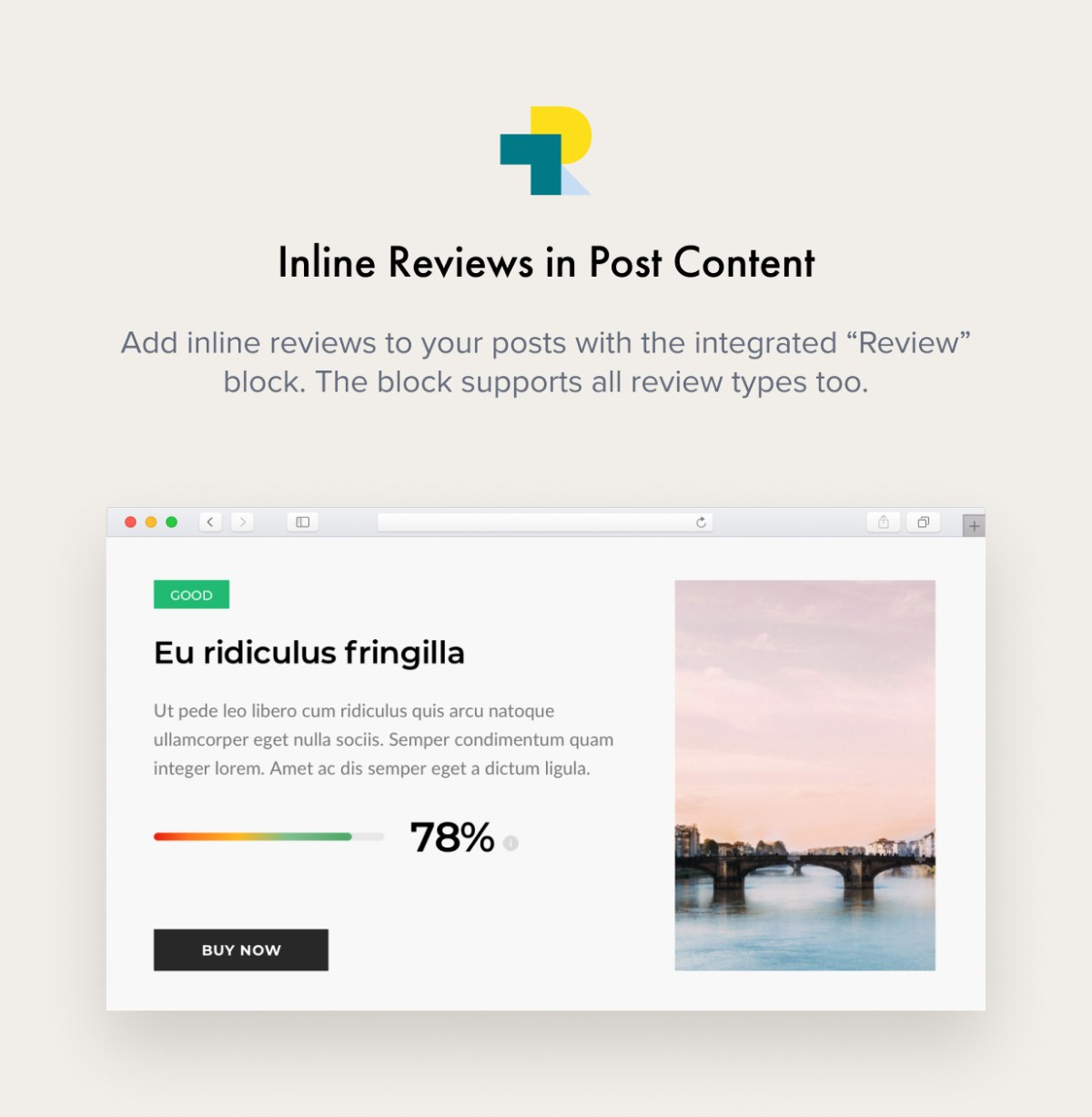Inline Reviews in Post Content