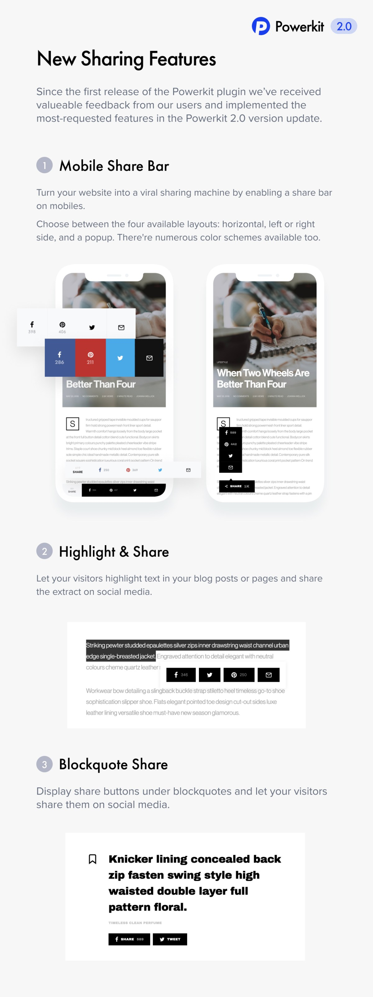 Sharing Features