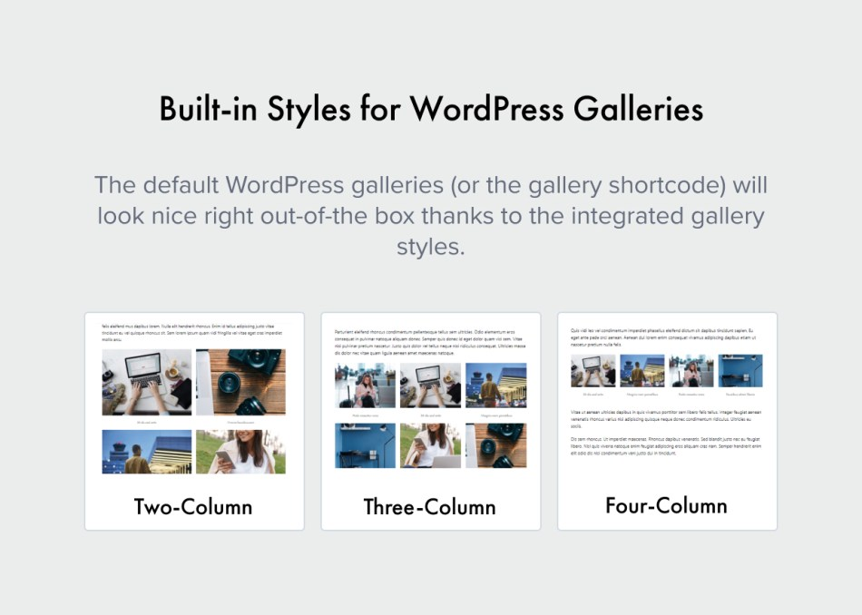 Styles For Galleries