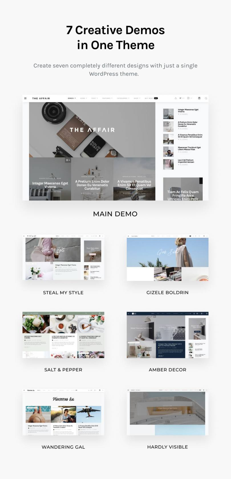 The Affair - Creative Theme for Personal Blogs and Magazines - 3
