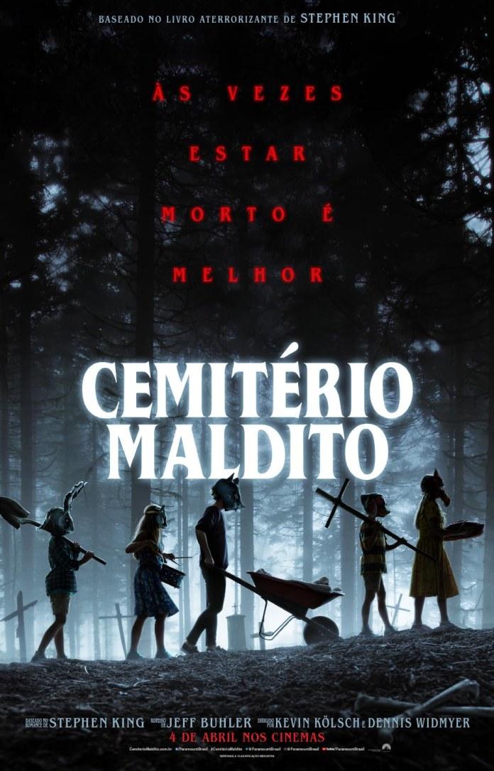PETSEM_INTL_TSR_1SHT_DGTL_MASK_KIDS_BRA Cemitério Maldito | Filme ganha novos trailer e cartaz; Confira!