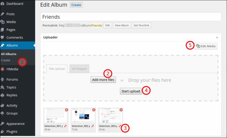 album list