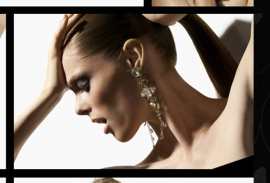 Coco Rocha in Senhoa Jewelry shot by Nigel Barker.
