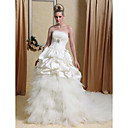 Ball Gown Sleeveless Floor-length Satin Wedding Dress Price