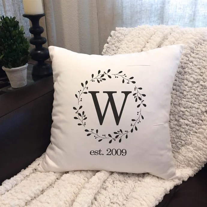 monogram personalized pillow covers