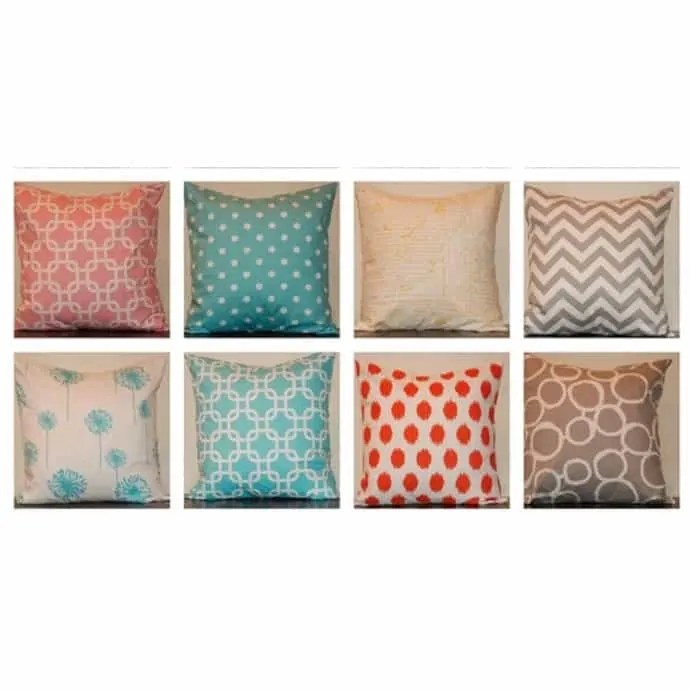 clearance 18x18 or 10x10 pillow covers lots of designer fabric choices
