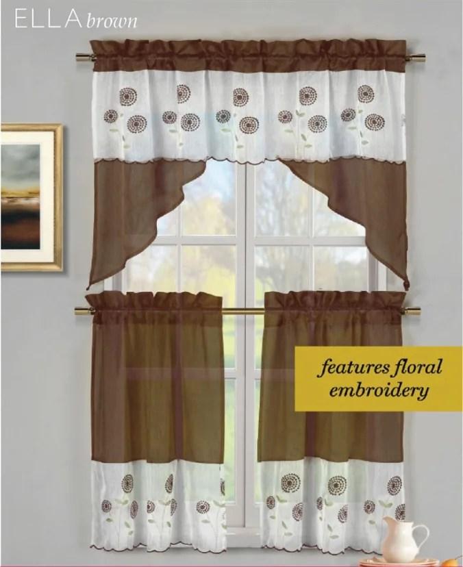 3 piece kitchen curtain sets