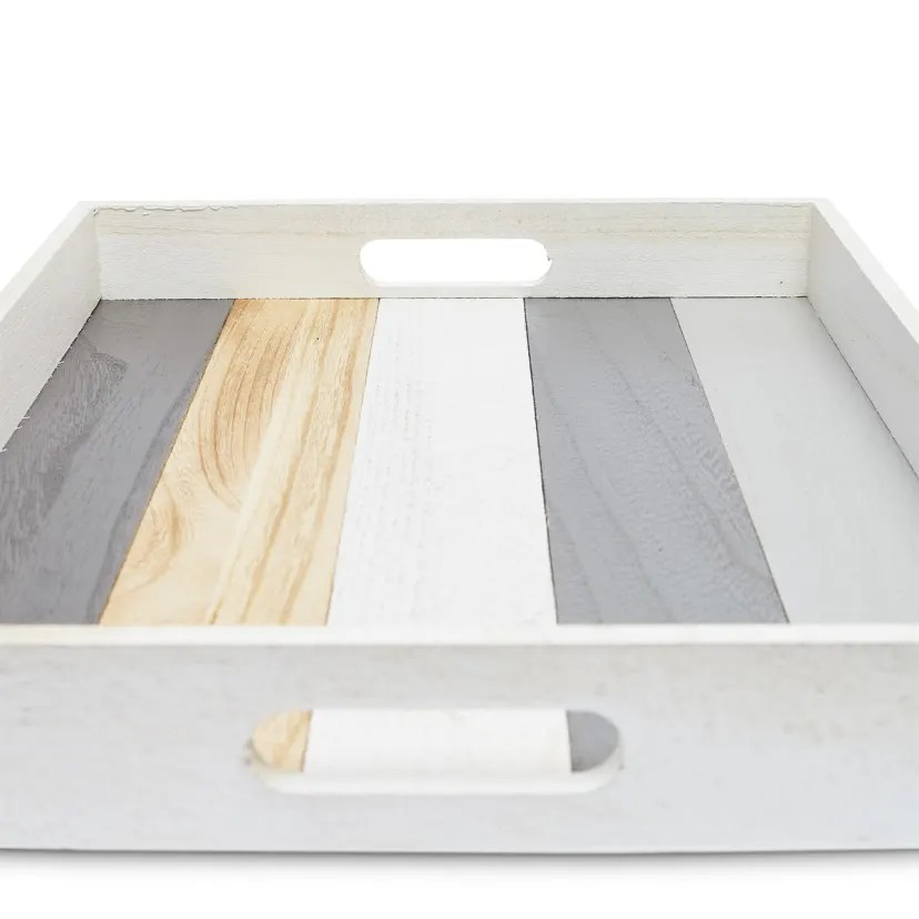 modern ottoman serving tray and coasters