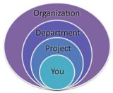 Organization, department, project, you