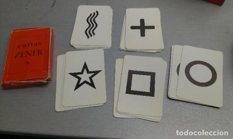 CARTAS ZENER / CLARIVIDENCIA Y TELEPATÍA (Juguetes y Juegos - Cartas y Naipes - Barajas Tarot)