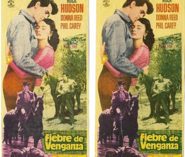 2 Programas De Cine Fiebre De Venganza Rock Hudson Donna Red Variante 19561957