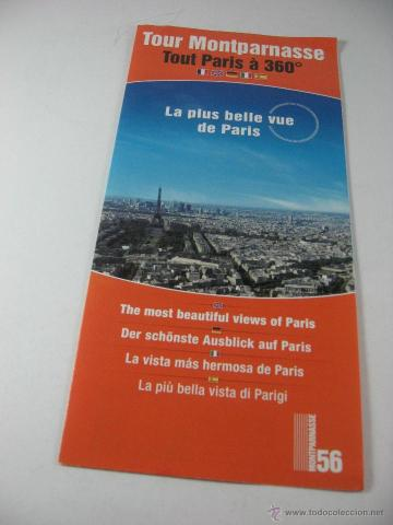 folleto turistico torre montparnasse paris  fra   Comprar Folletos     FOLLETO TURISTICO TORRE MONTPARNASSE PARIS  FRANCIA   Coleccionismo    Folletos de Turismo