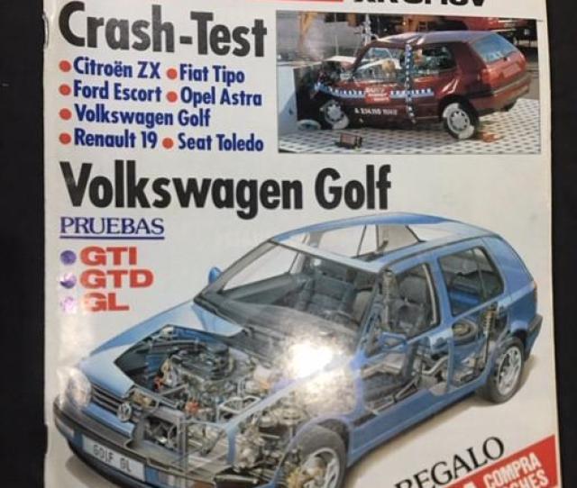 Revista Auto Mecanica No 266 Ford Escort Xr Volkswagen Golf Gti Gtd Gl Coches Y