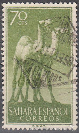 EDIFIL 136. USADO. FAUNA INDÍGENA 1957. (Sellos - España - Colonias Españolas y Dependencias - África - Sahara)
