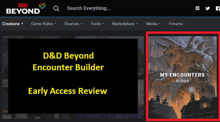 DND Beyond Encounter Builder – Early Access Review (With