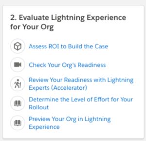 salesforce lightning and organizational tools
