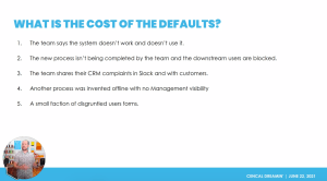 What is the cost of the defaults?