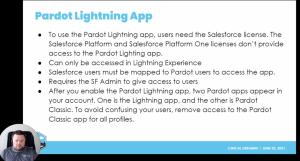 Pardot Lightning App
