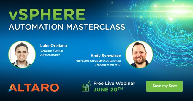 Webinar: vSphere Automation Masterclass with VMware vExperts