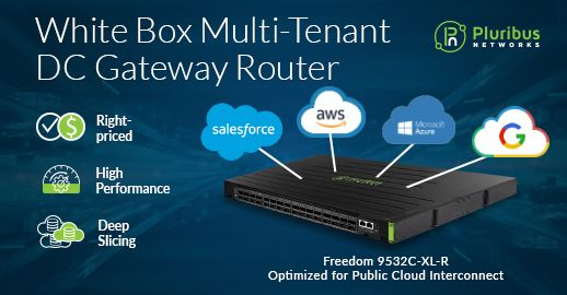 Pluribus Networks Unveils Industry's First White Box Multi-Tenant Data Center Gateway Router
