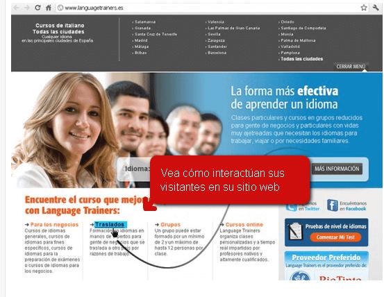 Control de navegación de clientes por su sitio web